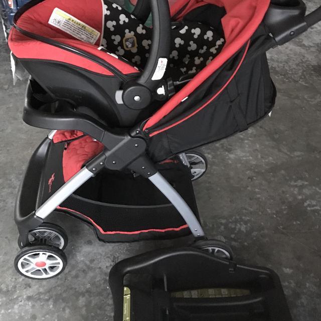 Mickey car seat stroller combo