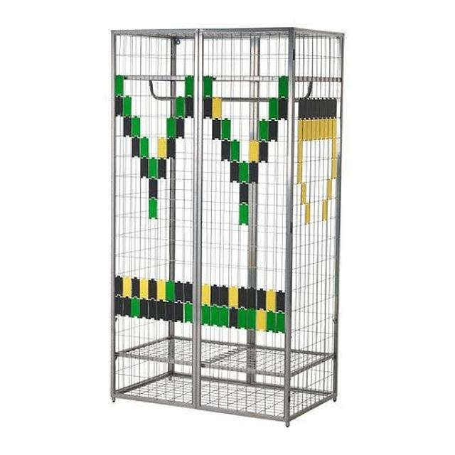 find more ikea ps 2014 silver metal cage wardrobe for sale at up to 90 off. Black Bedroom Furniture Sets. Home Design Ideas
