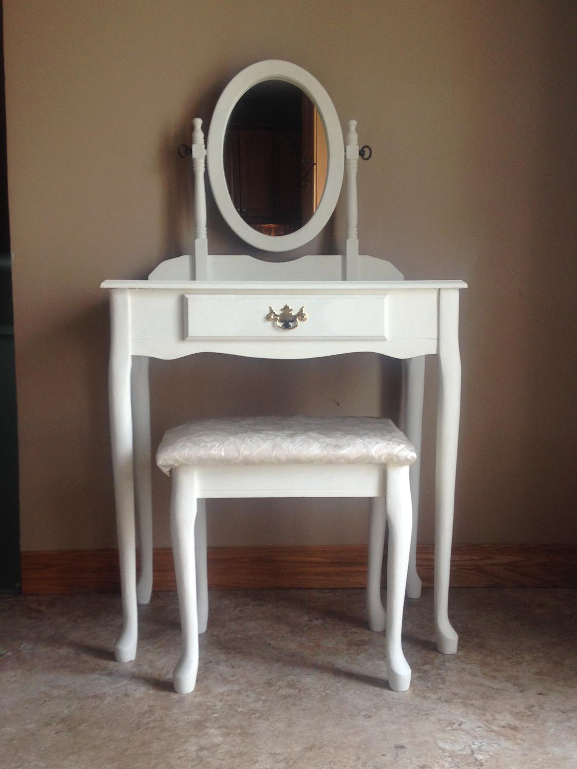 Find More Refinished Antique Makeup Vanity For Sale At Up