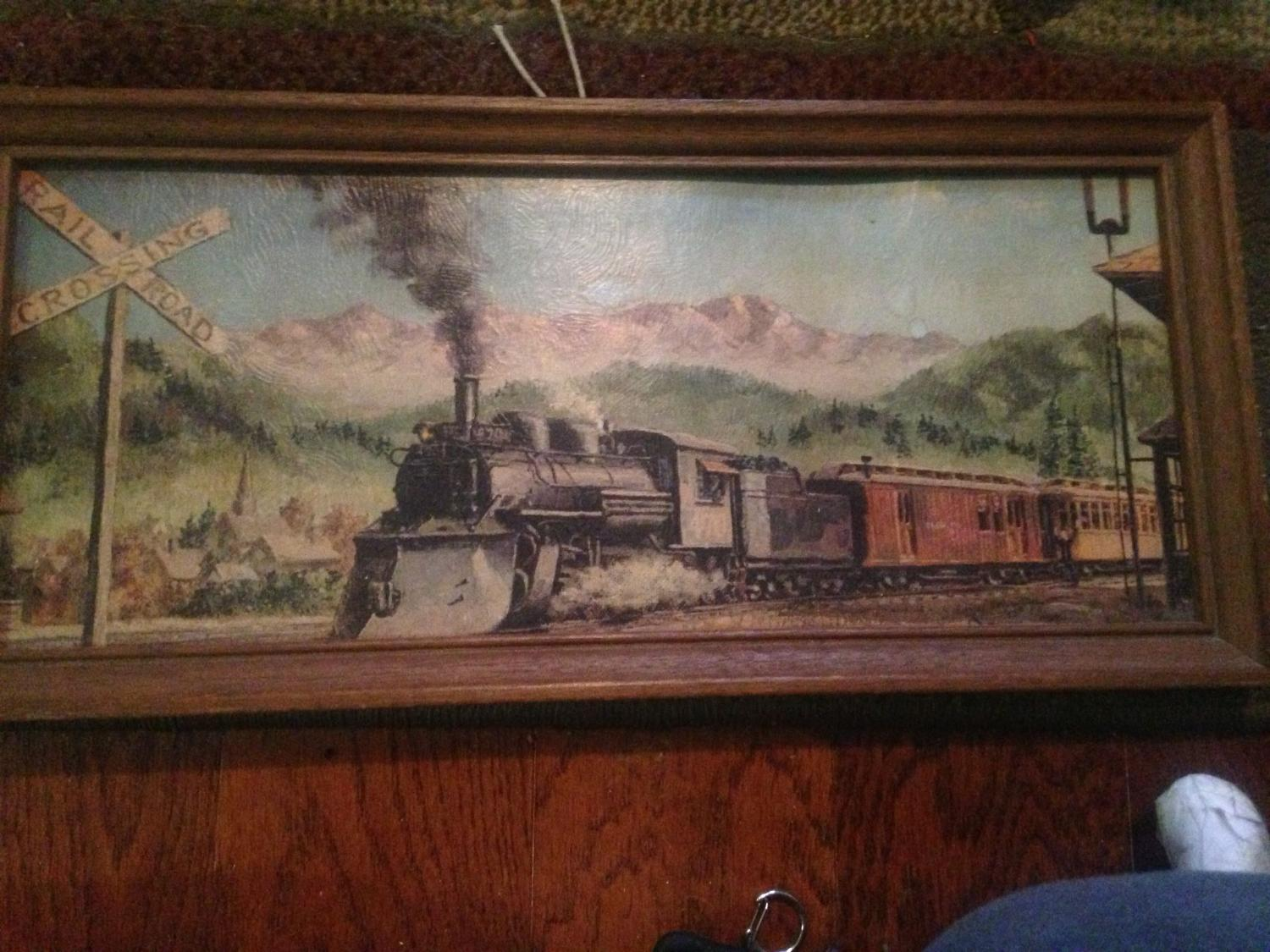find more train painting for sale at up to 90 off On home decor kenner