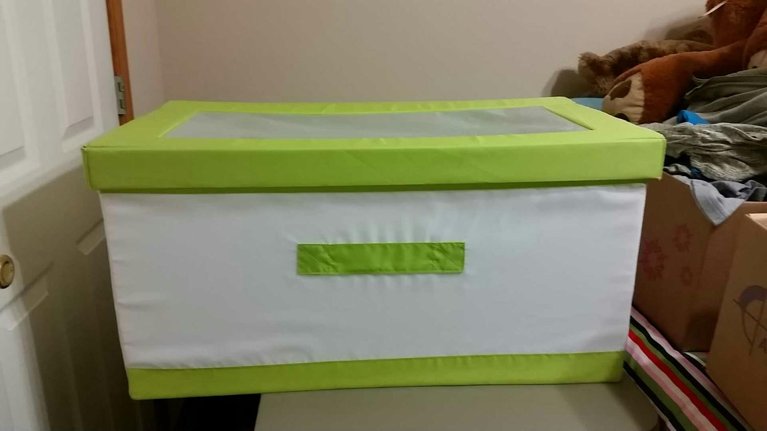 Find more ikea collapsible toy box for sale at up to 90 off for Large toy box ikea