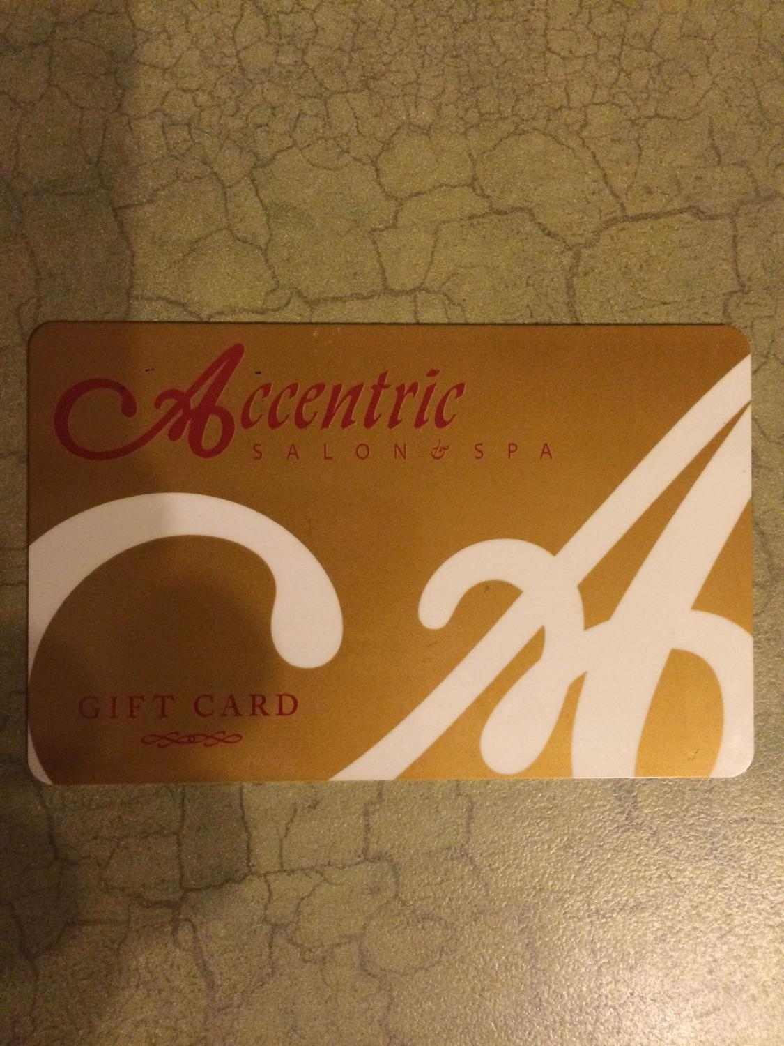 Find more accentric salon and spa 50 gift card for sale at up to 90 off airdrie ab for Accentric salon calgary