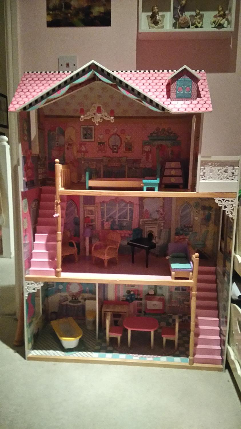 find more elc wooden dolls house with furniture suitable