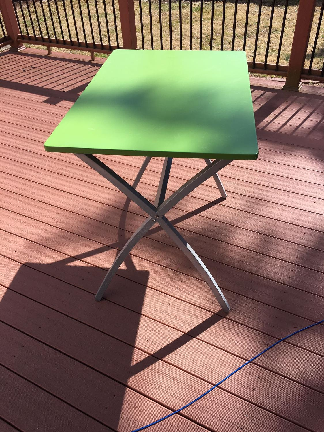 Best Ikea Like Bright Green Table And Stand For Sale In Peoria Illinois For 2017