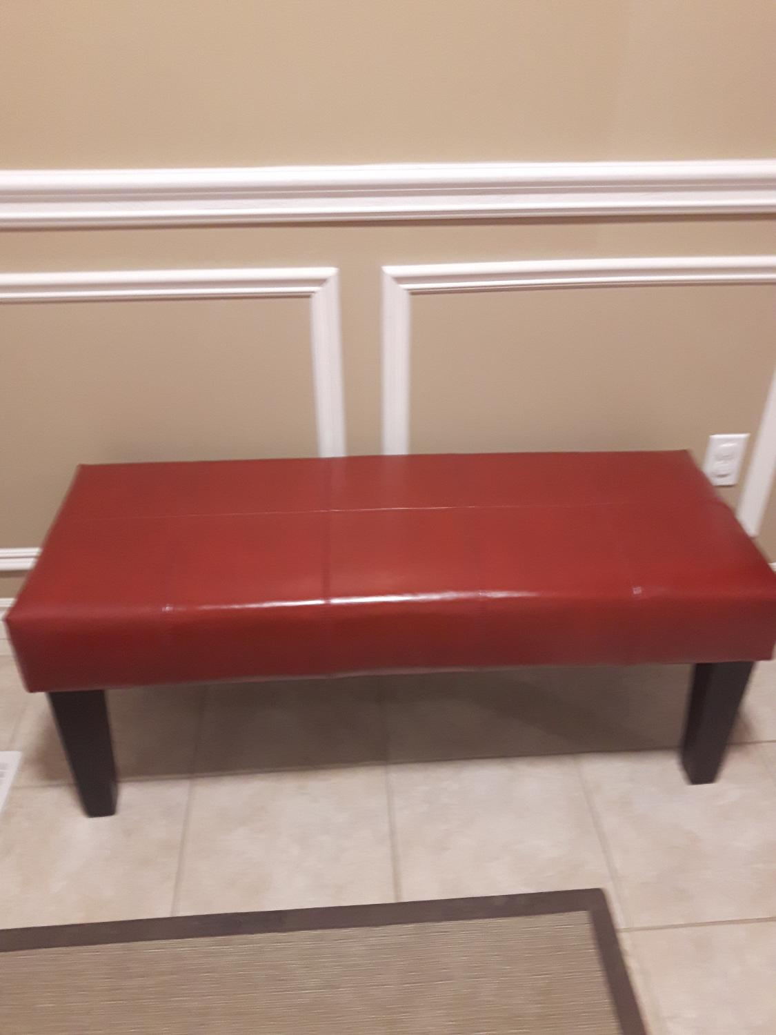 Find More Red Leather Bench For Sale At Up To 90 Off