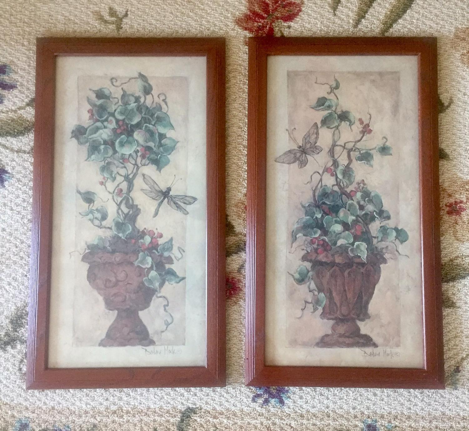 Find More Home Interiors Homco Topiary Framed Wall Art Set
