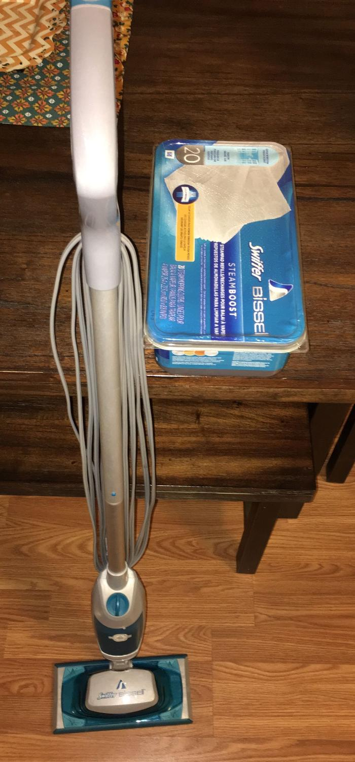Find more swiffer bissel steamboost steam mop with 1 2 for Steam mop 17 in 1