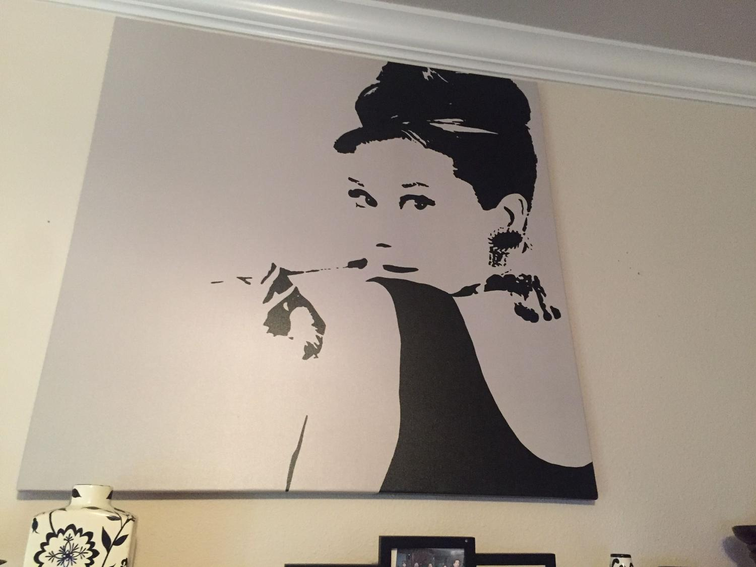 Find more audrey hepburn stencil for sale at up to 90 off for Audrey hepburn pictures to buy