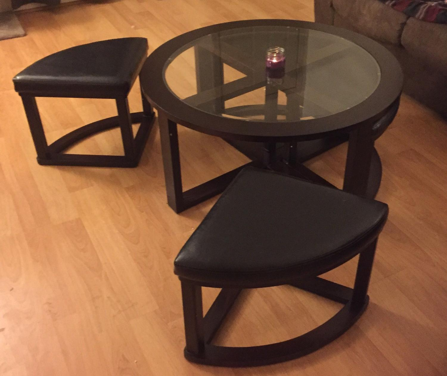find more versatile round coffee table with seats for sale at up to 90 off regina sk. Black Bedroom Furniture Sets. Home Design Ideas
