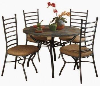 Best ashley slate kitchen table with 4 chairs for sale in for Ashley furniture appleton