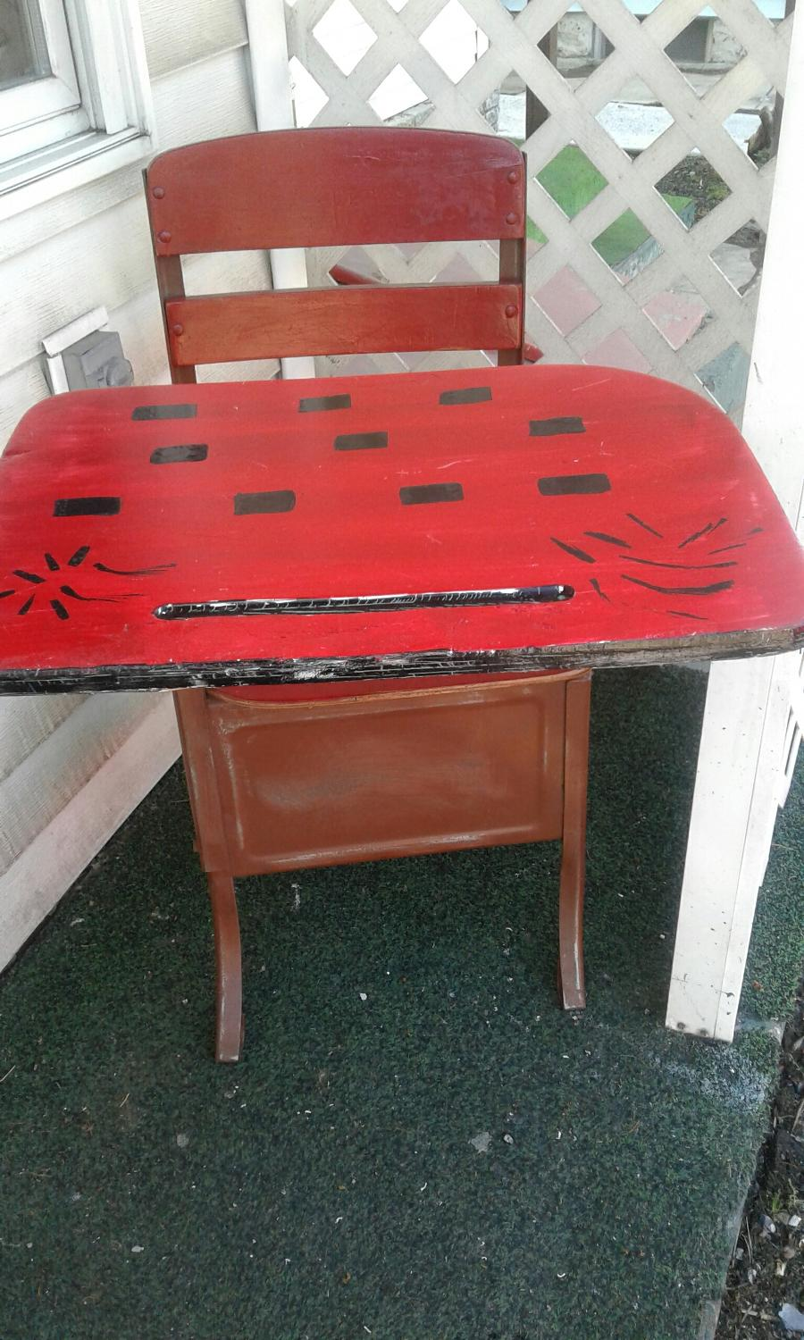 best repurposed school desk with cubbyhole for sale in altoona pennsylvania for 2017. Black Bedroom Furniture Sets. Home Design Ideas