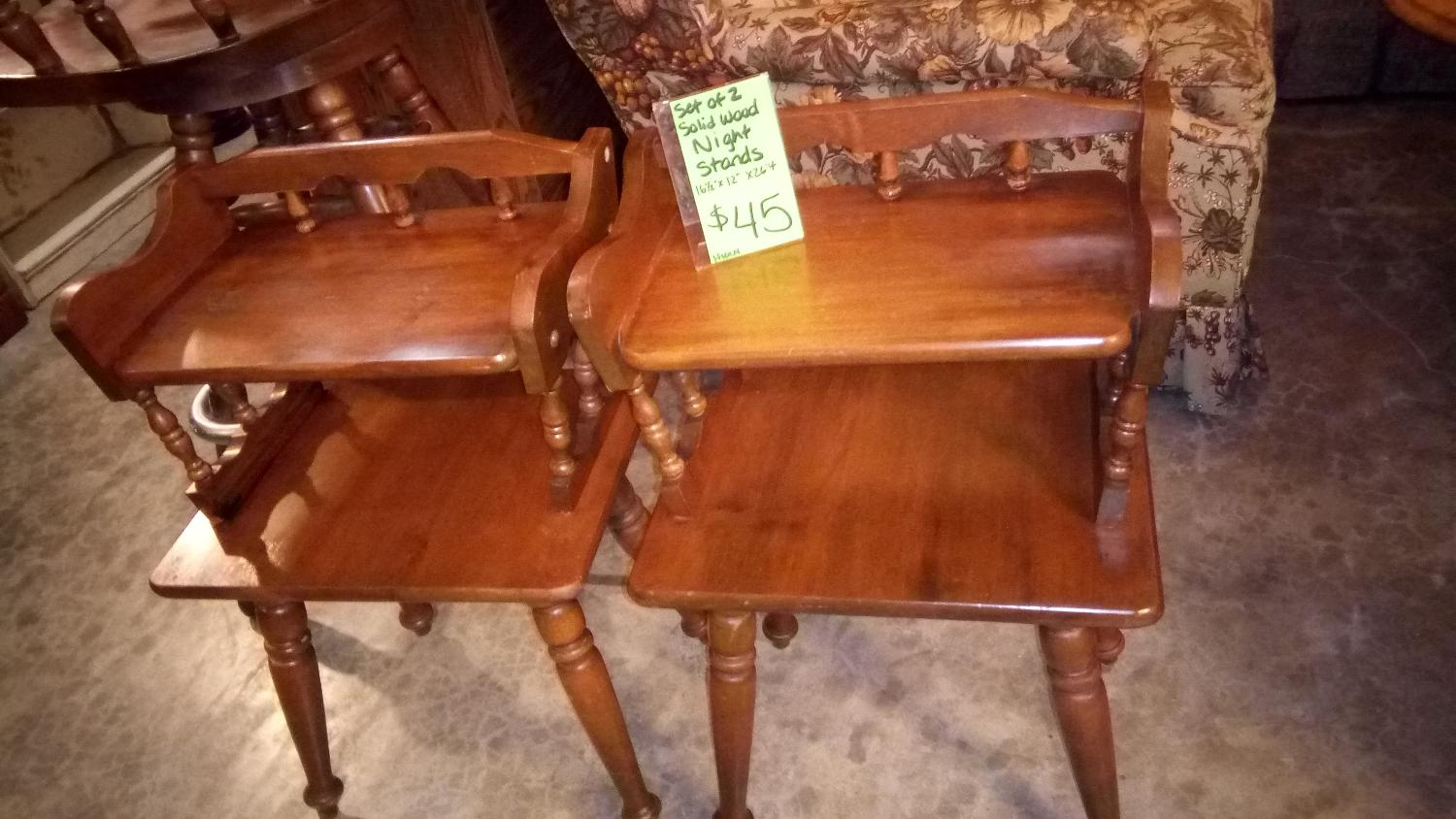 Best Set Of 2 Solid Wood Night Stands For Sale In Columbia Missouri For 2017