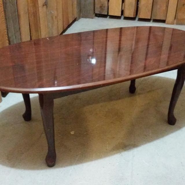 3 Piece Cherry Queen Anne Coffee Table 2 End Tables