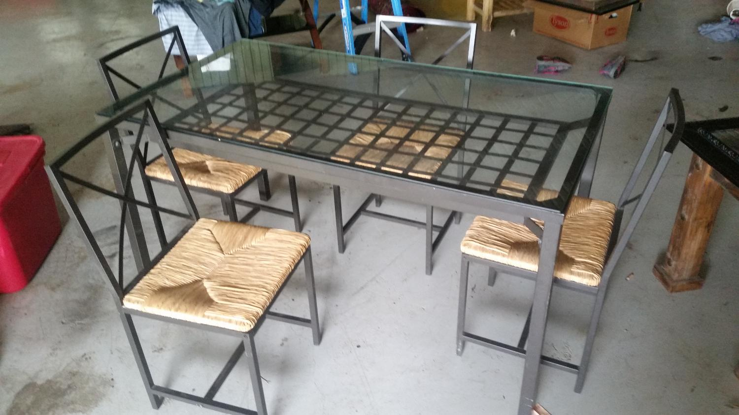 Best Reduced Glass Top Dining Table Set For Sale In Brazoria County Tex