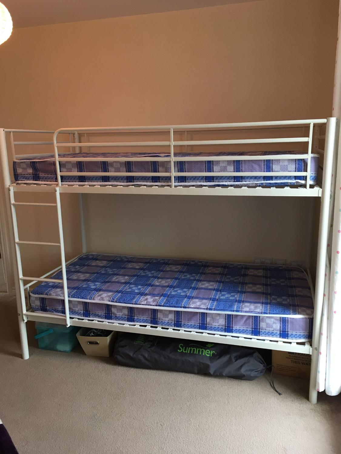 find more white metal framed bunk bed with mattresses as