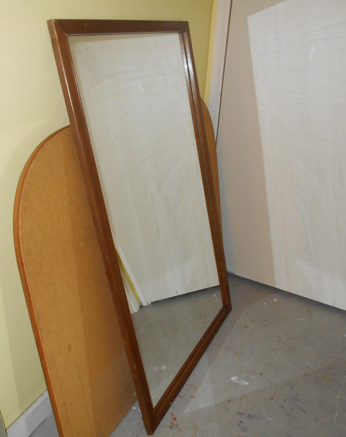 Best large wood framed mirror 32 x 50 gibsons for Mirror 50 x 50