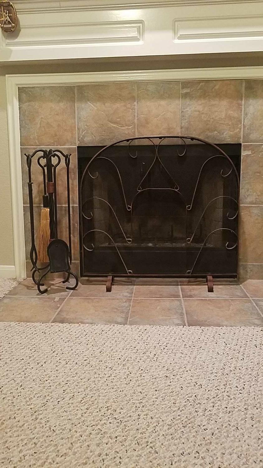 Find More Fireplace Screen 5 Piece Fireplace Tool Set For Sale At Up To 90 Off Houston Tx