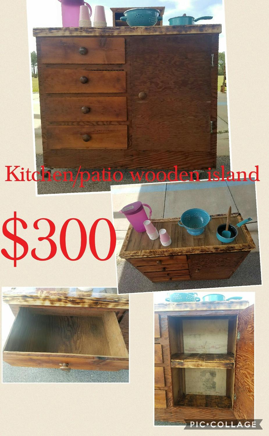 Best Wooden Island For Kitchen Or Patio For Sale In Mobile Alabama For 2017