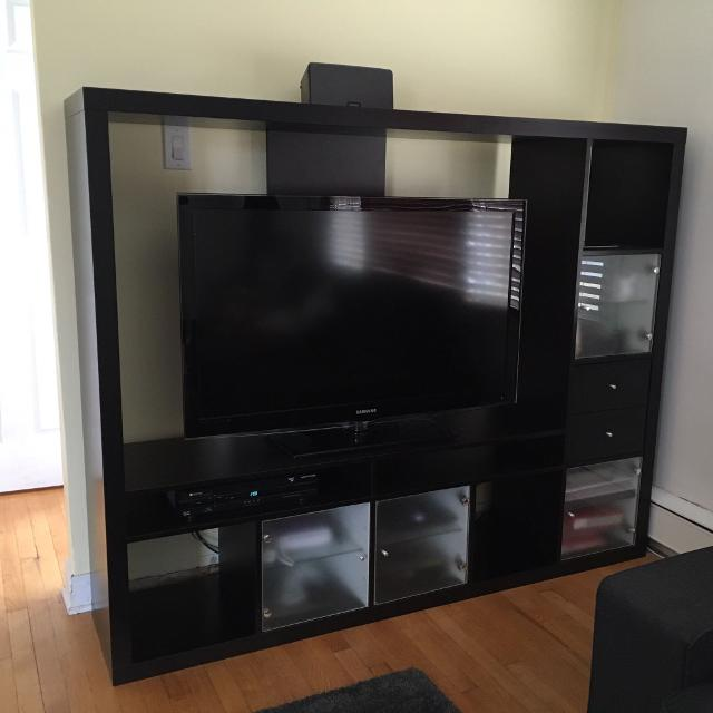 Find More Price Drop Ikea Lappland Tv Storage Unit Black Brown For