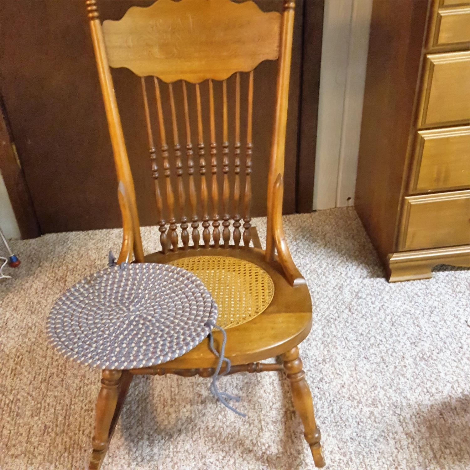 Best Antique Rocking Chair With Cane Seat for sale in Appleton ...