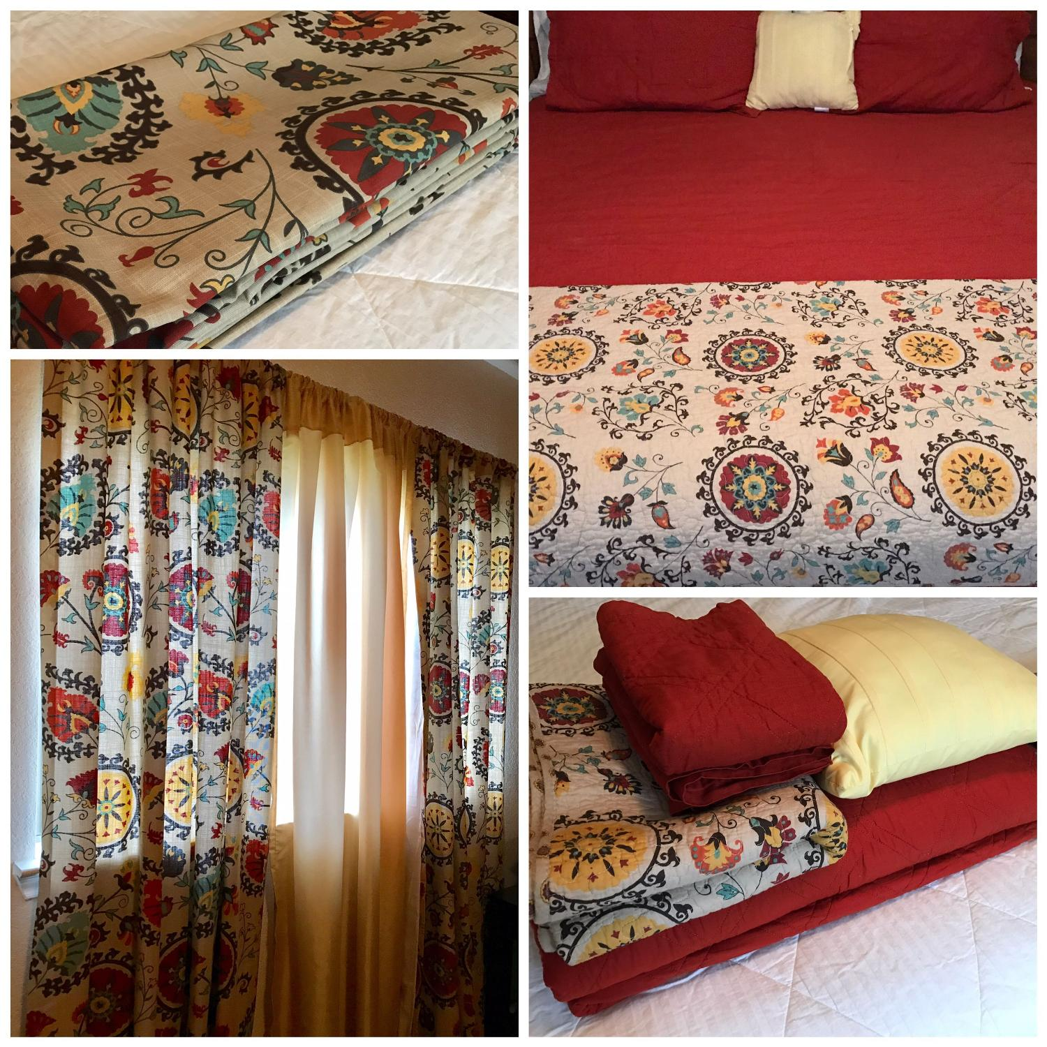 Best Bedroom Set With Curtains (selling As Set) For Sale