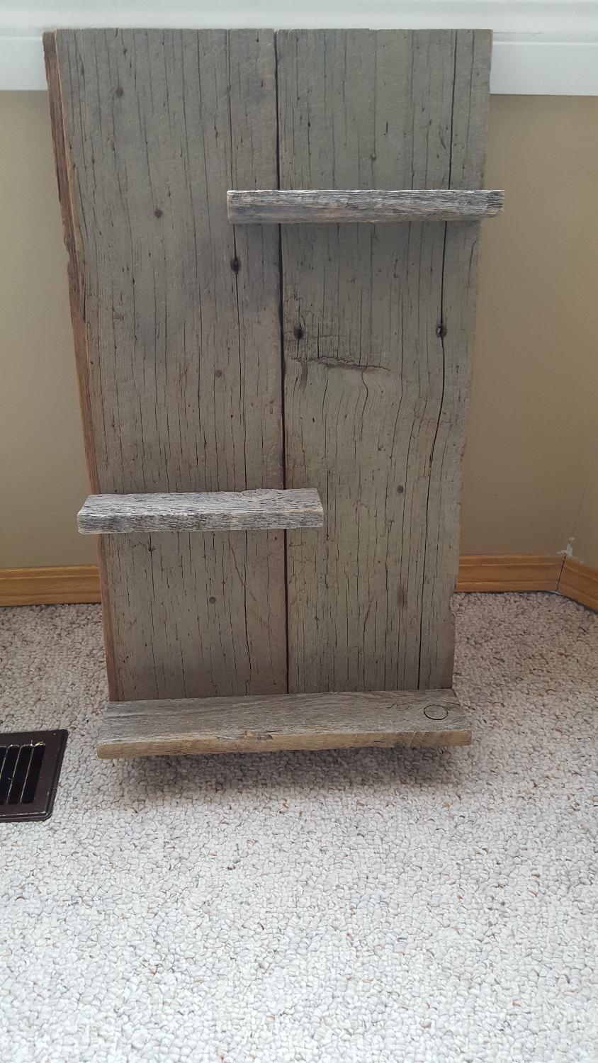Find more barnwood shelf for sale at up to 90 off for Barnwood shelves for sale