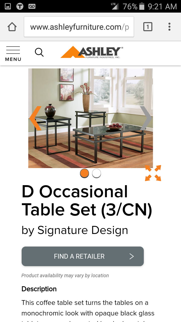 best 3 piece ashley furniture tables for sale in oshkosh