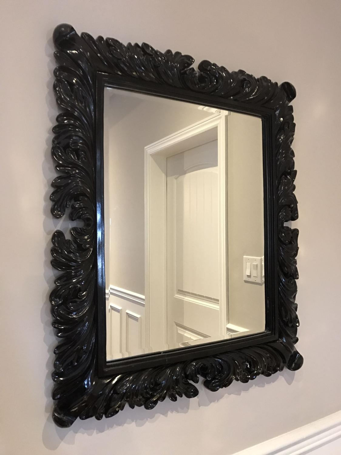 Best black baroque framed mirror for sale in barrie for Baroque mirror canada