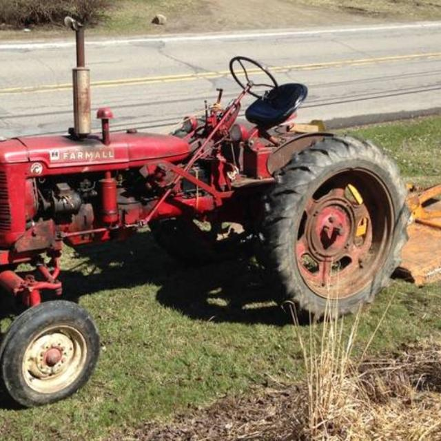 1949 Farmall C with Brush Hog and Sickle Bar