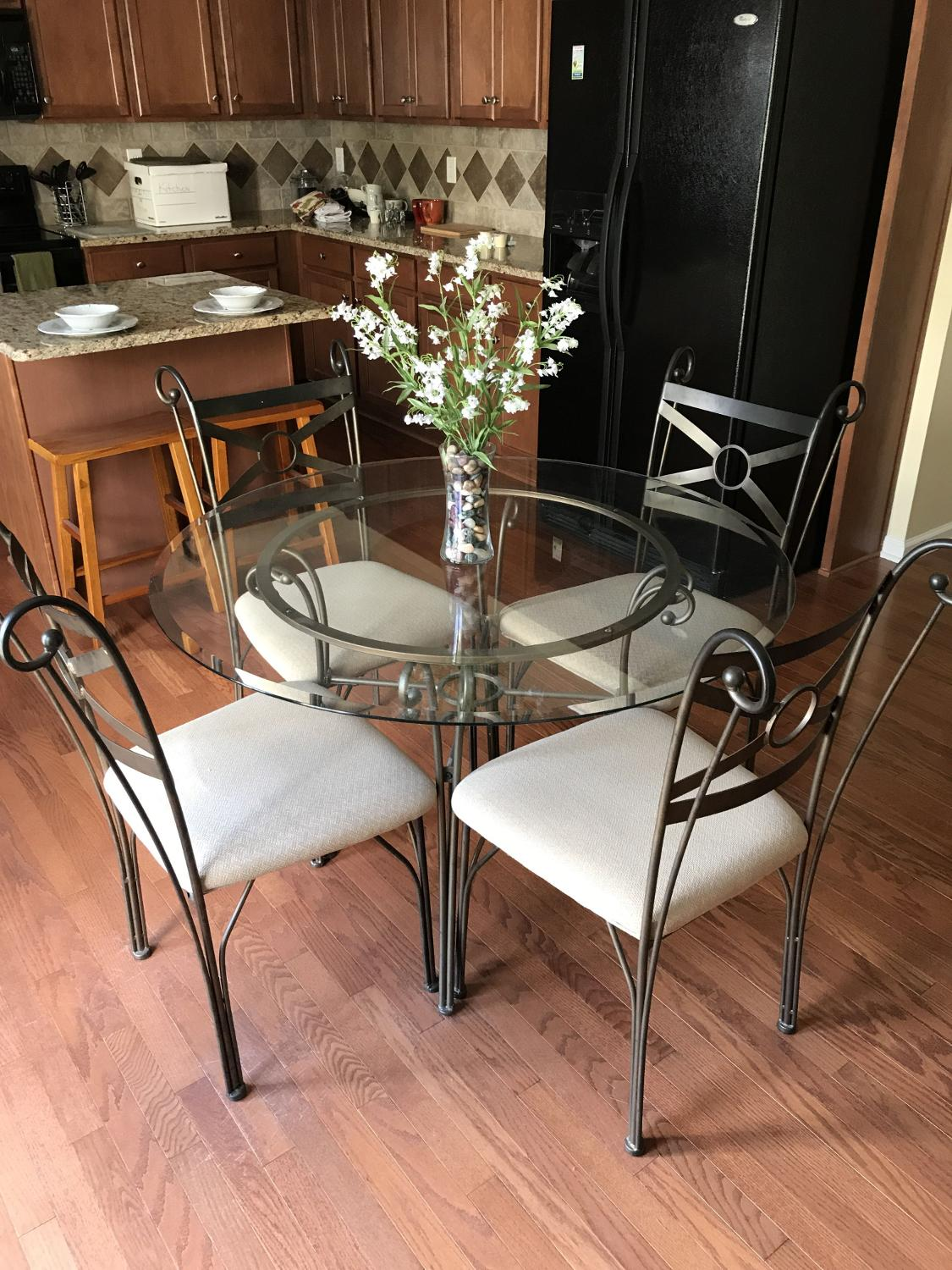 Find More 46 Glass Kitchen Table With 4 Chairs For Sale At Up To 90 Off Concord Nc