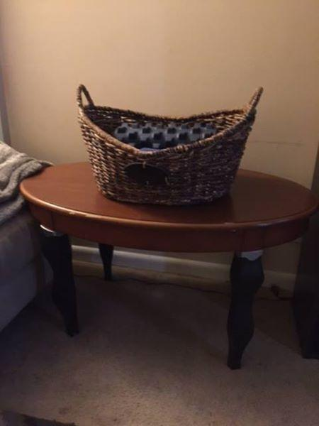 Best solid wood coffee table and wicker basket for sale in nashville tennessee for 2018 Coffee table with wicker baskets