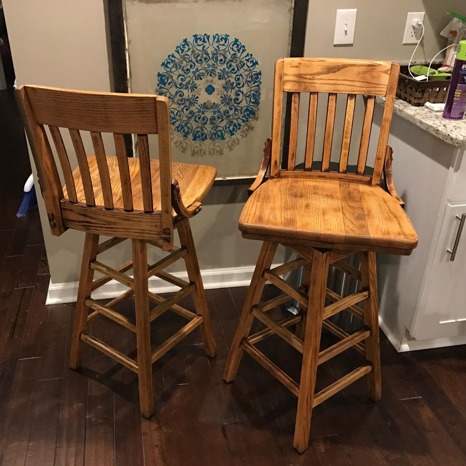 Best solid oak bar stools for sale in nashville tennessee for 2018 Home bar furniture nashville tn
