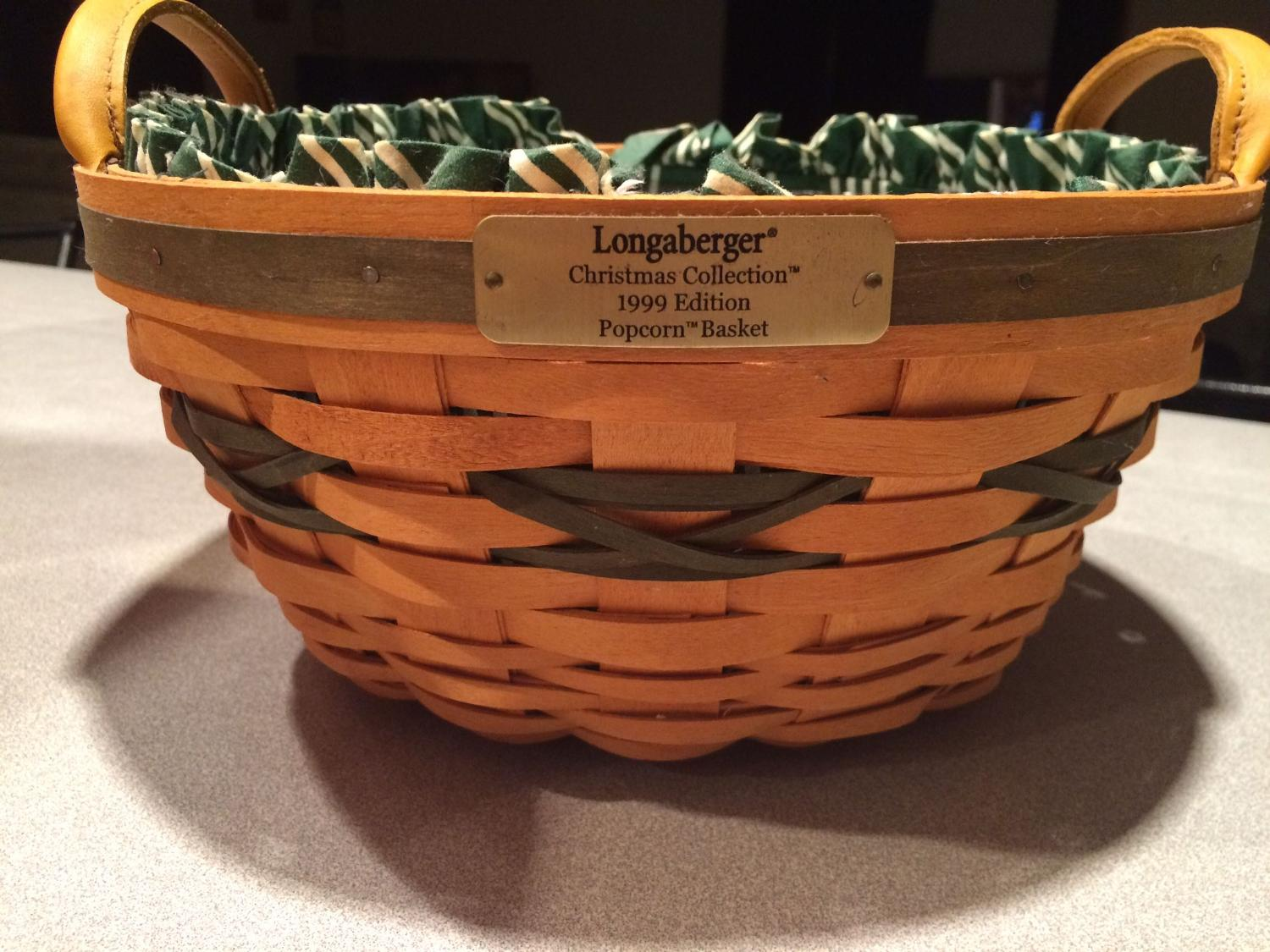 Best longaberger 1999 christmas collection popcorn basket Longaberger baskets for sale