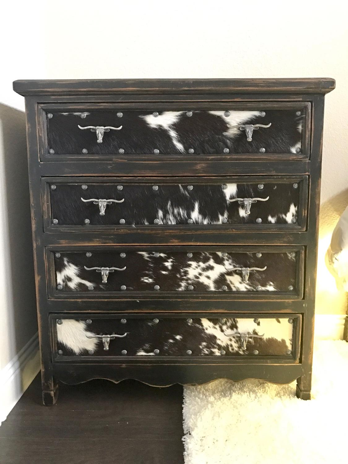 Find More Reduced Designer Chest Of Drawers With Cowhide Front For Sale At Up To 90 Off