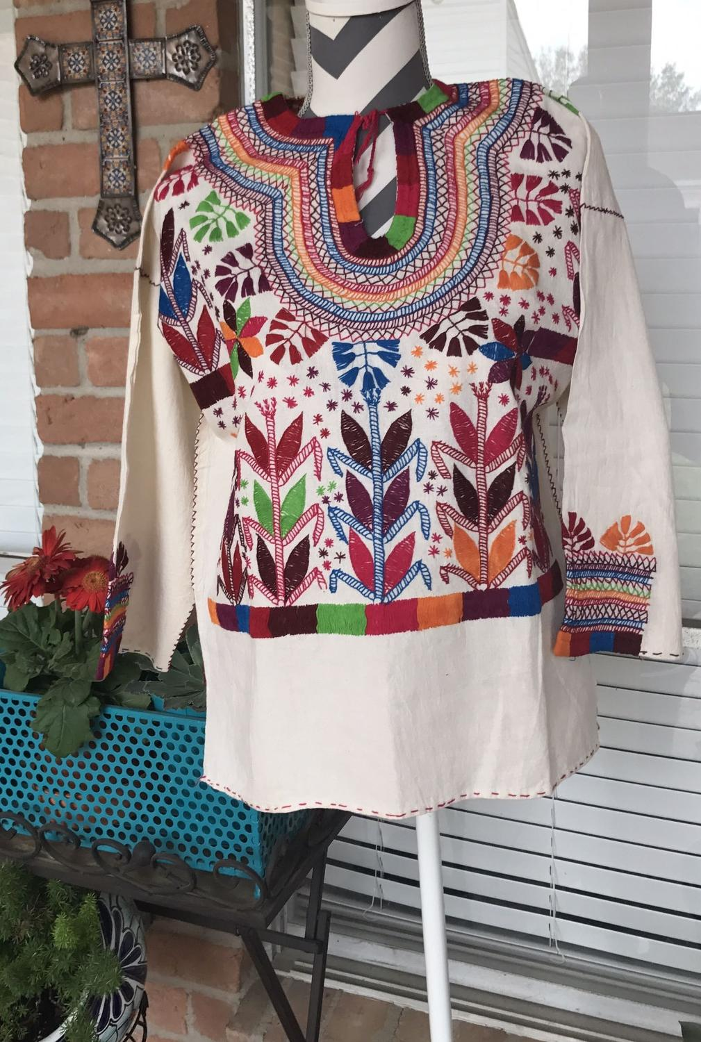 Best mexican hand embroidered top for sale in katy texas