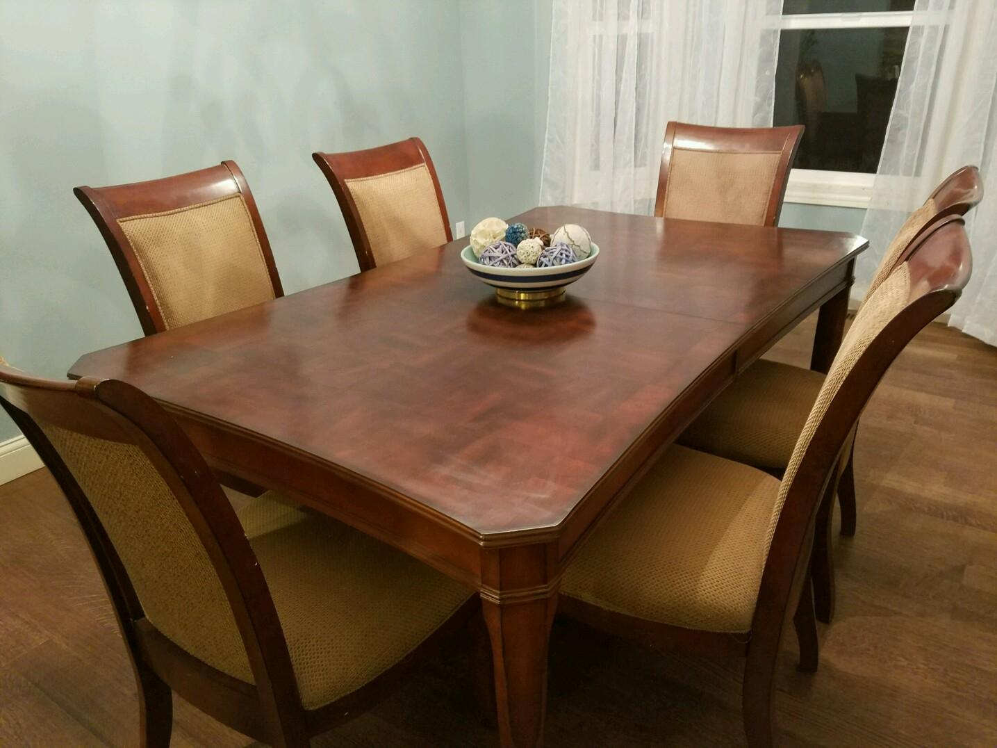 best beautiful wood dining room table and 6 chairs for
