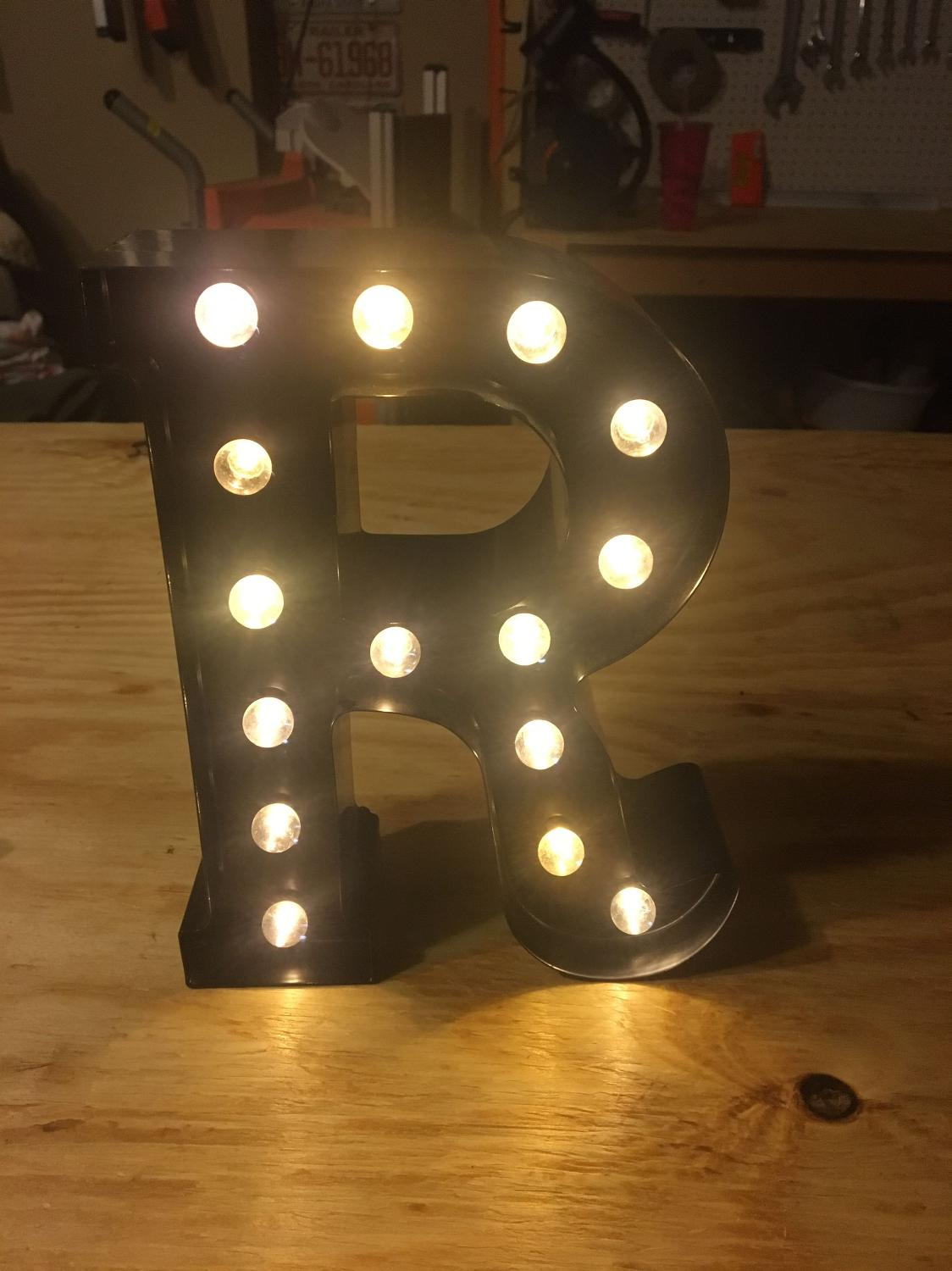 Find more letter r marquee light up for sale at up to 90 for Light letters for sale
