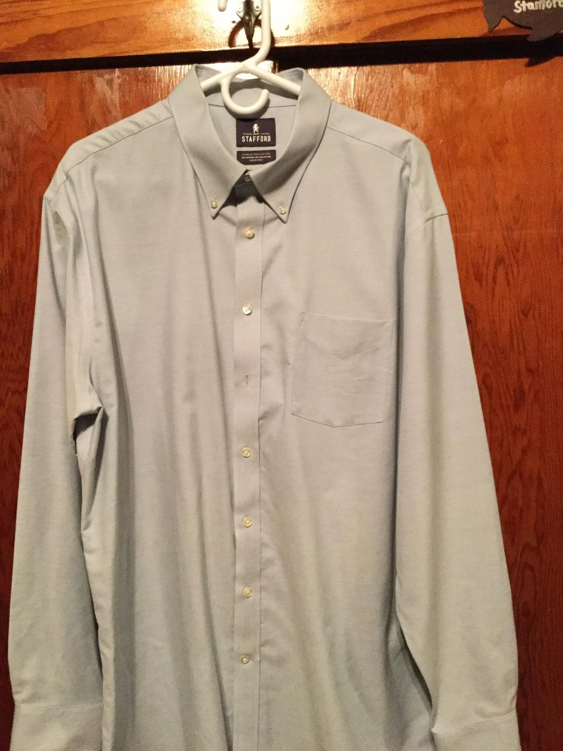 Best blue stafford men 39 s dress shirt 8 for sale in for Where to buy stafford dress shirts