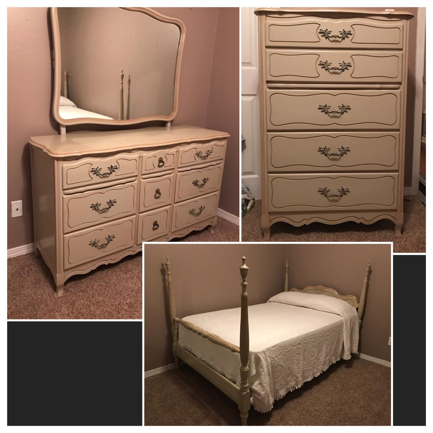 Find More 1950 39 S French Provincial Full Size Bedroom Suit Includes Bed Linen For Sale At Up To