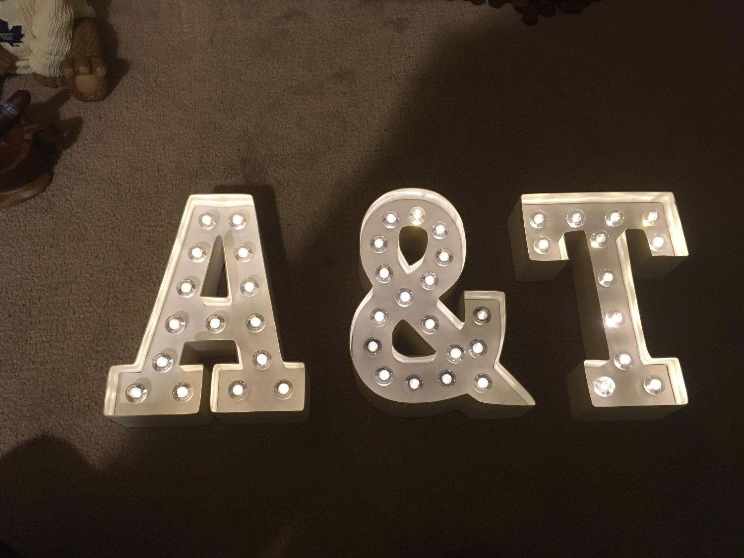 Find more a t light up letters for sale at up to 90 off for Light letters for sale