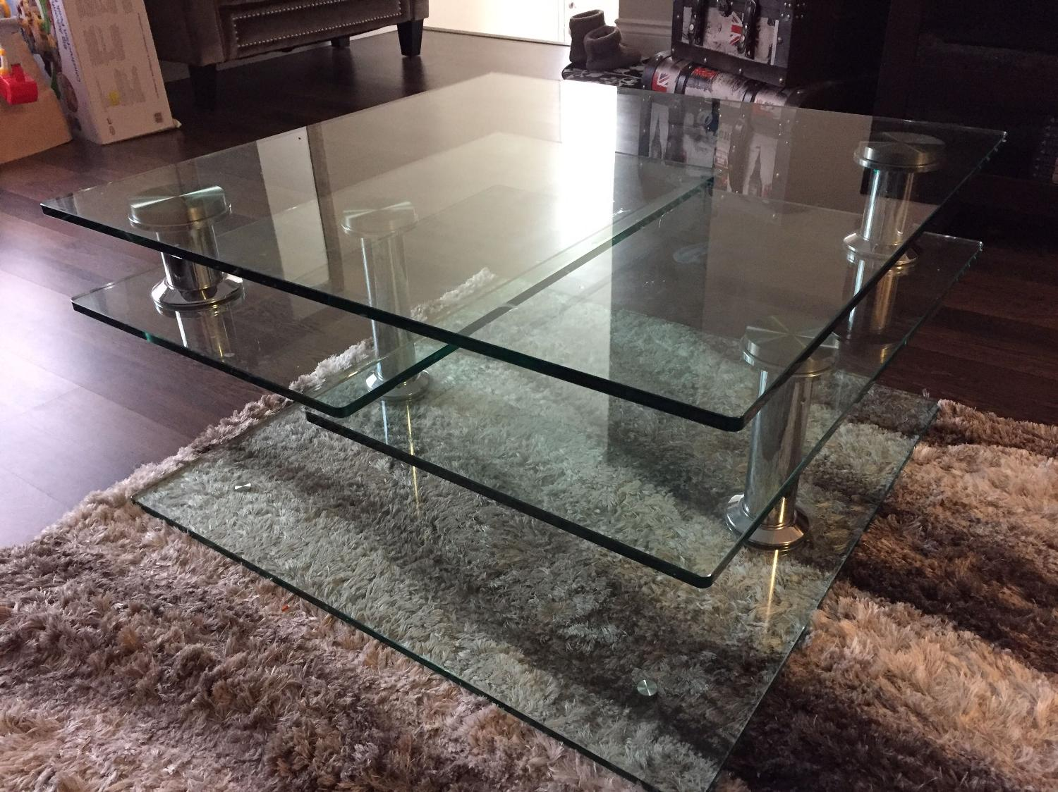 Best glass coffee table for sale in burlington ontario for Furniture burlington wa