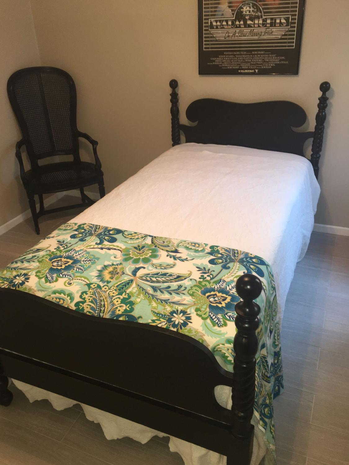 Find More Black Barley Twist Twin Bed With Mattress For Sale At Up To 90 Off Baton Rouge La