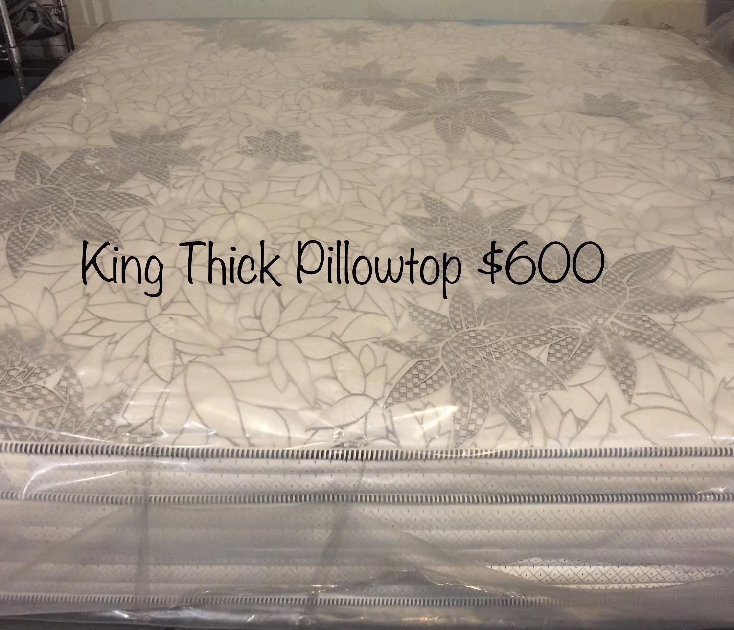 Find More King Size Thick Pillowtop Mattress For Sale At Up To 90 Off Calgary Ab