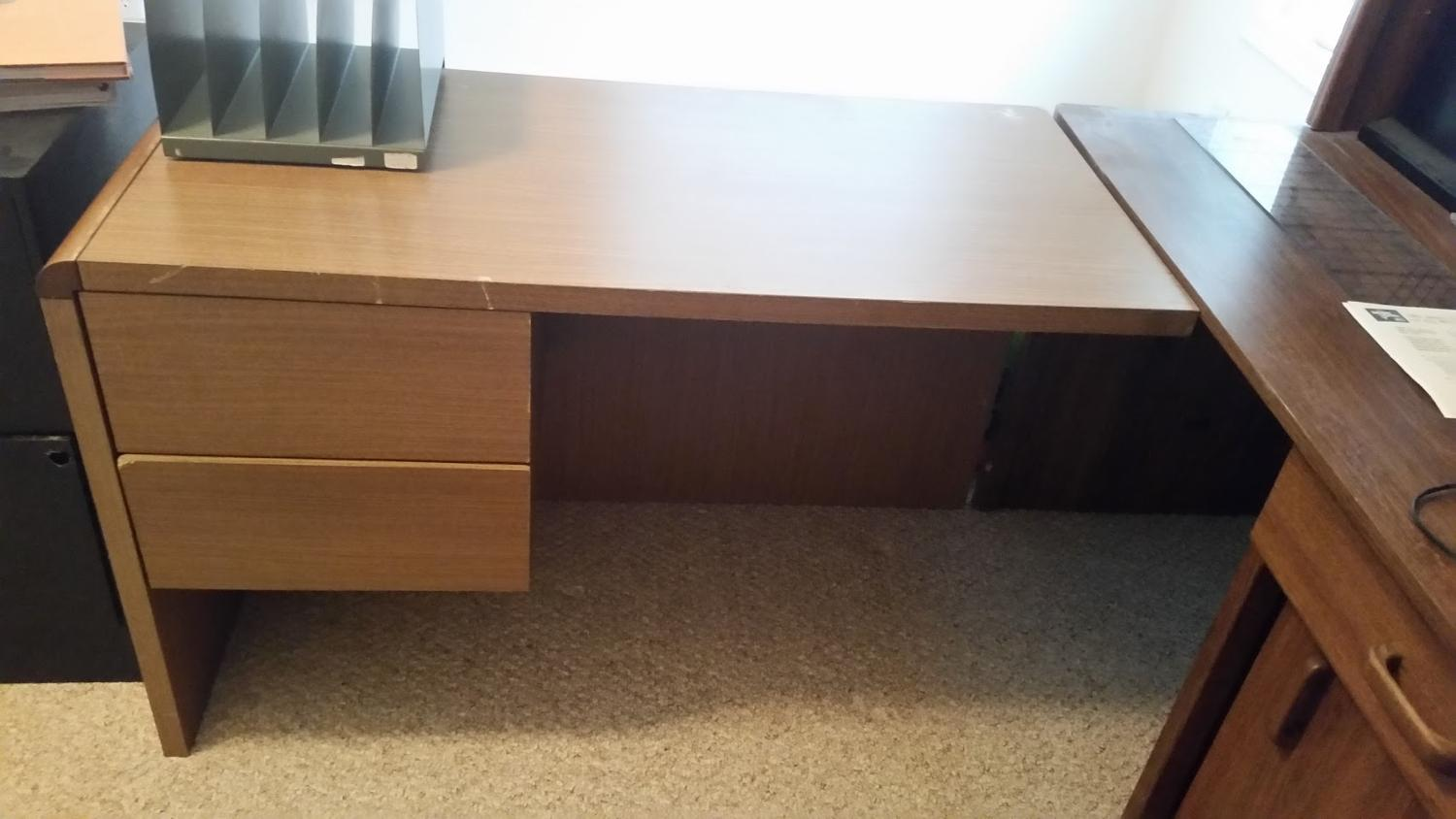 best desk add on piece 2 drawers for sale in champaign illinois for 2018. Black Bedroom Furniture Sets. Home Design Ideas