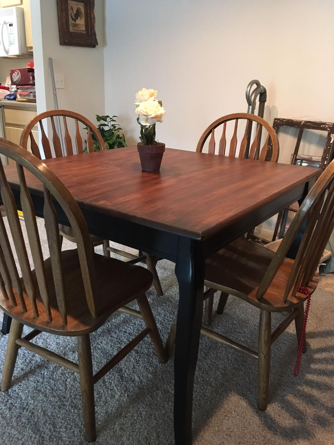 Amazing photo of  Wood Square Table With 4 Chairs for sale in Pensacola Florida for with #886844 color and 1125x1500 pixels
