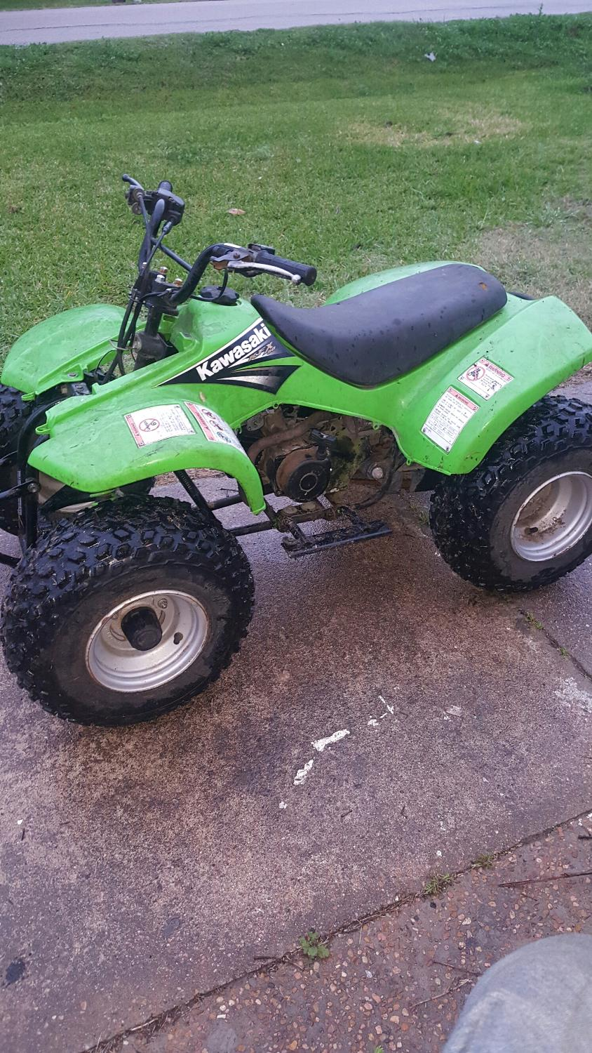 find more 05 kawasaki kfx50 kids 4 wheeler for sale at up to 90 off brazoria county tx. Black Bedroom Furniture Sets. Home Design Ideas
