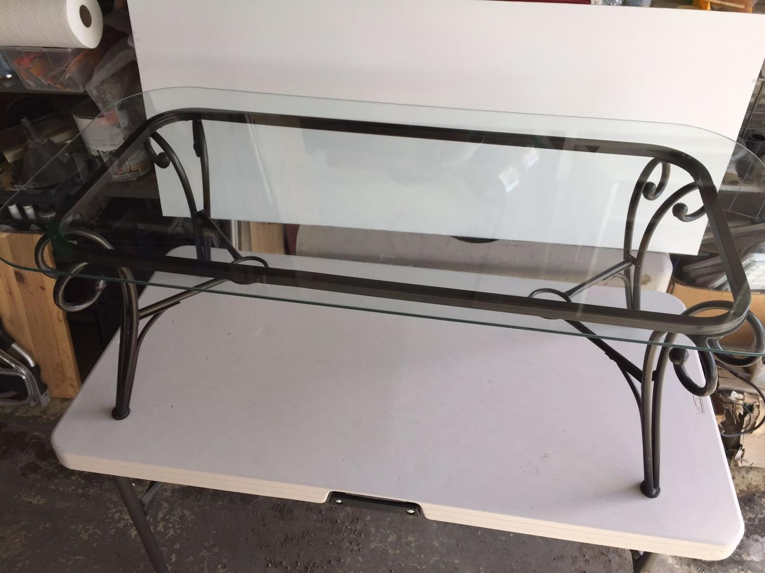 Find more metal frame coffee table with glass top i 39 m for Metal frame glass coffee table
