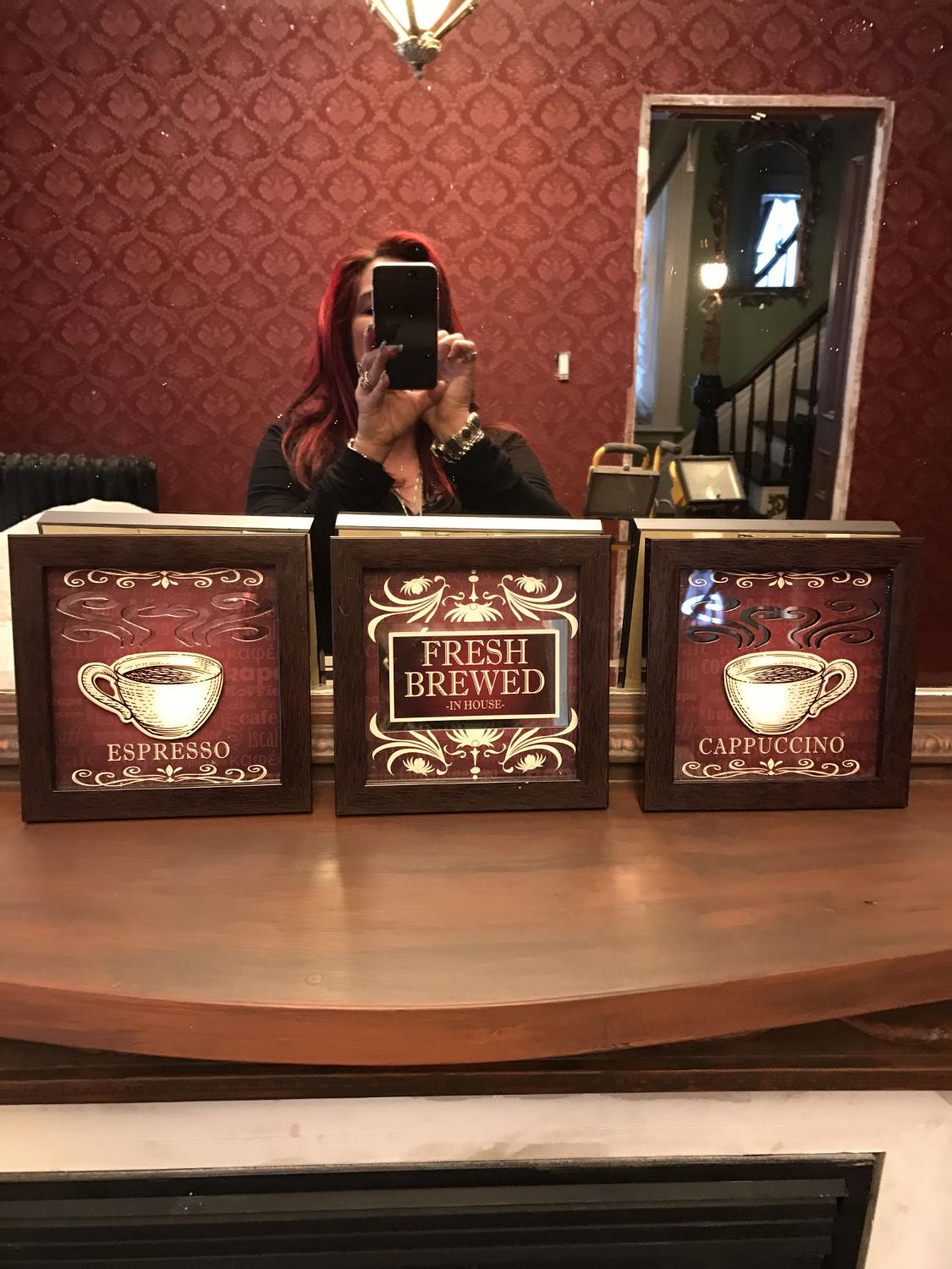 Best Set Of 3 Kitchen Or Coffee Bar Wall Plaques Mirror Inserts For Sale In Etobicoke Ontario