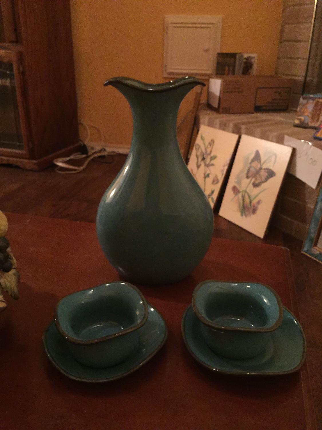 Best southern living vase matching bowels for sale in for World decor auction san antonio