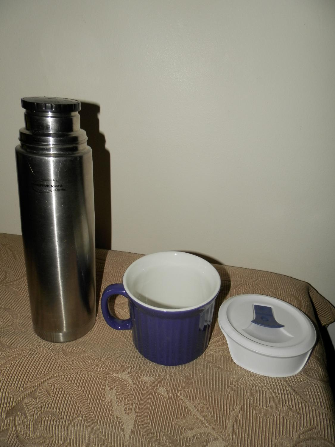 Find more new corningware soup mug with lid and euc for Thermos caffe